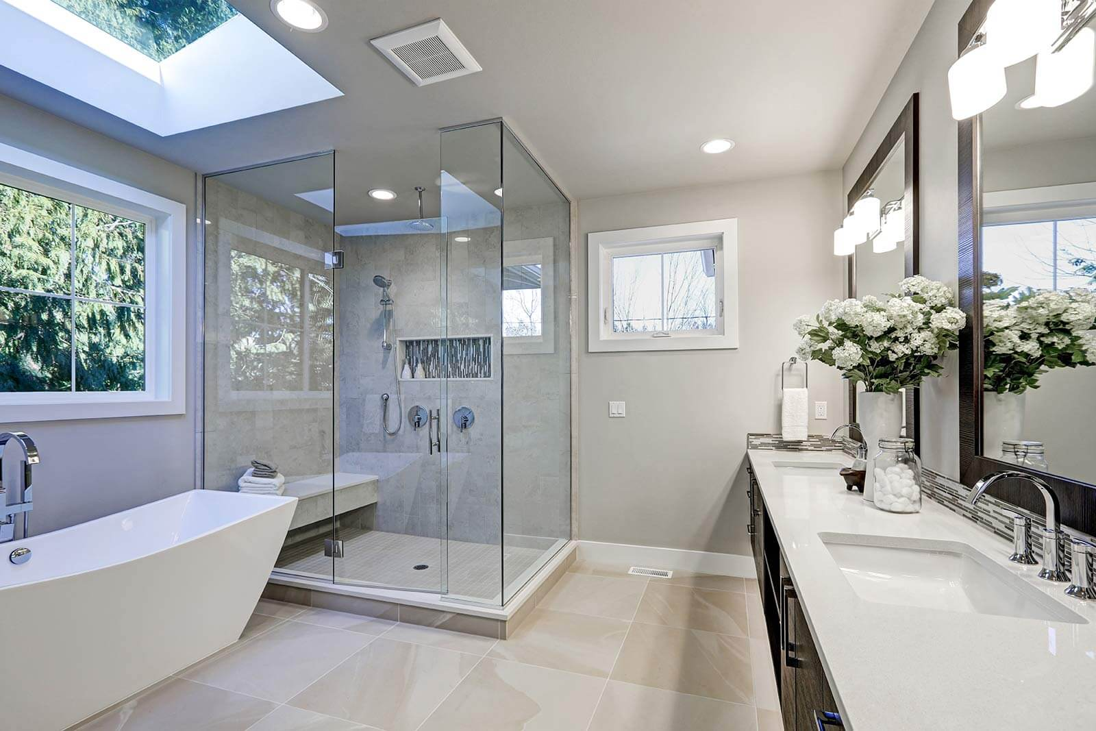 Frameless Shower Doors Near Me - Showers Without Doors by Shower Doors of Charlotte NC
